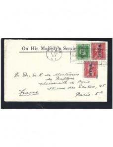 Carta Nueva Zelanda correo oficial Otros Mundial - 1900 a 1930.