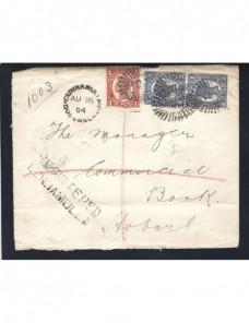 Carta certificada Australia Queensland Otros Mundial - 1900 a 1930.