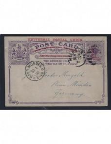 Tarjeta entero postal Australia Victoria Otros Mundial - Siglo XIX.