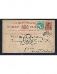 Tarjeta entero postal Australia Nueva Gales del Sur Otros Mundial - 1900 a 1930.