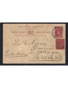 Tarjeta entero postal Nigeria Lagos Colonias y posesiones - 1900 a 1930.