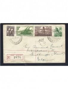Carta certificada Papua Nueva Guinea Colonias y posesiones - Desde 1950.