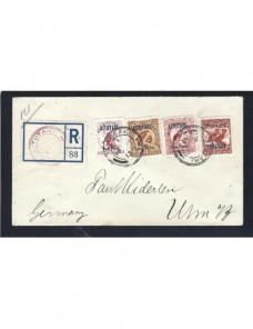 Carta certificada Aitutaki Colonias y posesiones - 1900 a 1930.