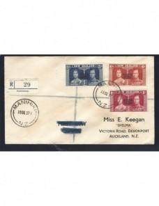 Carta certificada Islas Cook Colonias y posesiones - 1931 a 1950.