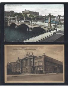 Dos tarjetas postales ilustradas Alemania Berlín Alemania - 1900 a 1930.