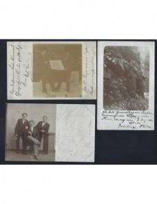 Tres tarjetas postales Alemania fotografías de caballeros Alemania - 1900 a 1930.