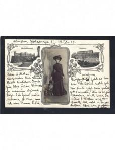 Tarjeta postal Alemania con fotografía adherida Alemania - 1900 a 1930.