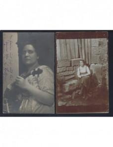 Dos tarjetas postales Alemania fotografías de señoras Alemania - 1900 a 1930.
