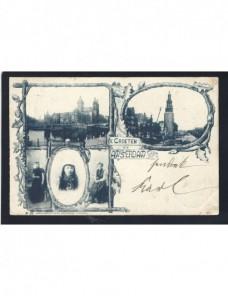 Tarjeta postal Países Bajos montaje fotográfico Otros Europa - Siglo XIX.