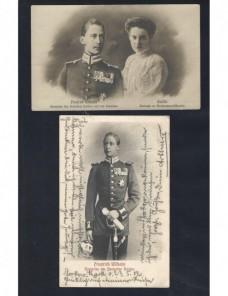 Dos tarjetas postales Alemania fotografías príncipe heredero Alemania - 1900 a 1930.