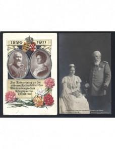 Dos tarjetas postales Alemania grandes duques de Baden Alemania - 1900 a 1930.