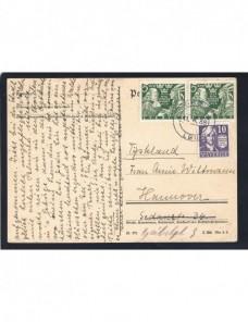 Tarjeta postal Suecia bonito franqueo Otros Europa - 1931 a 1950.