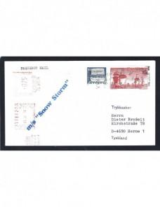Carta Suecia correo naval paquebot franqueo mixto Otros Europa - Desde 1950.