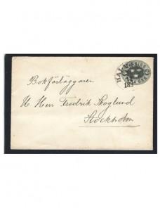 Sobre entero postal Suecia pequeño tamaño Otros Europa - Siglo XIX.