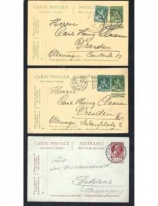Tres tarjetas entero postales Bélgica Otros Europa - 1900 a 1930.