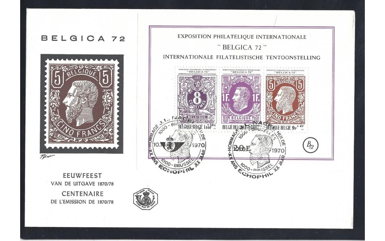 Dos sobres Bélgica Exposición 1972 Otros Europa - Desde 1950.