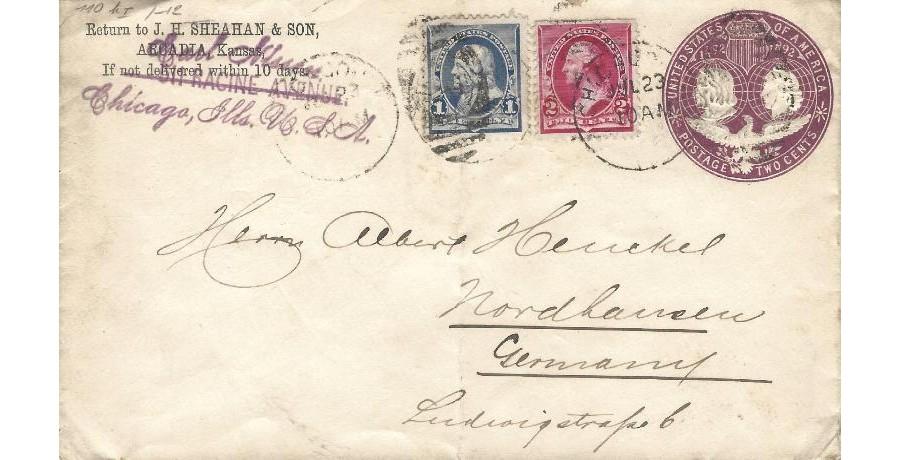 Sobre entero postal Estados...