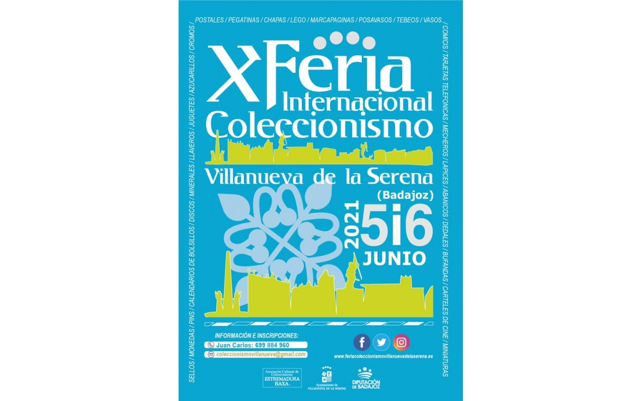 Cambio de fecha de la X Feria Internacional de Coleccionismo de Villanueva de la Serena