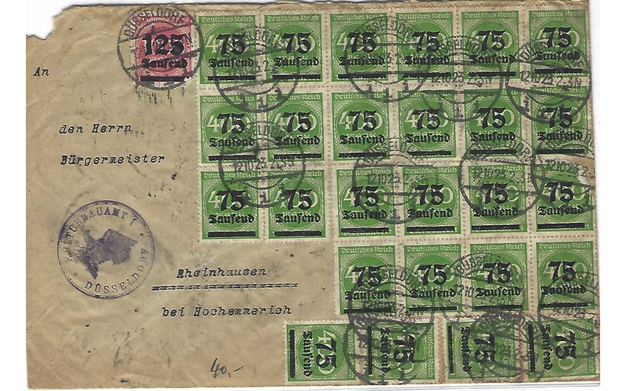 La hiperinflación de la República de Weimar